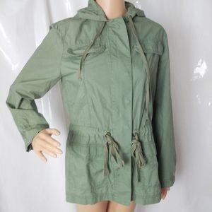 J. Crew Army  Green Rain Coat